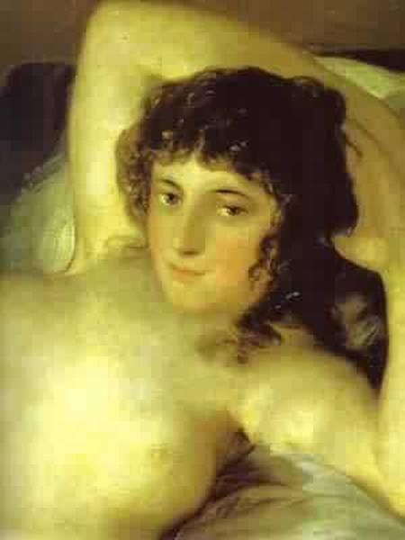 The nude maja la maja desnuda detail 1799 1800 museo de